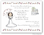 Pen At Hand Stick Figures Invitations - Wed Shower - Umbrella