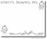 Pen At Hand Stick Figures - Jumbo Drawing Pad
