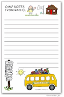 Pen At Hand Stick Figures - Large Full Color Pads (Camp Bus)