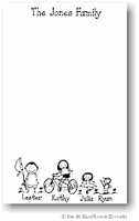 Pen At Hand Stick Figures - Large Single Color Family Pad