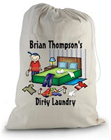 Pen At Hand Stick Figures - Laundry Bag (Room-Boy)