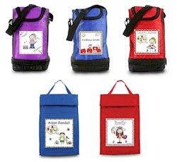 Pen At Hand Stick Figures - Lunch Sack - Create-Your-Own