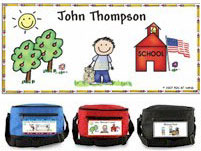 Pen At Hand Stick Figures - 6-Pack Lunch Sacks (Schoolhouse-Boy)