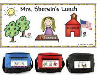 Pen At Hand Stick Figures - 6-Pack Lunch Sacks (Teacher)