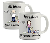 Pen At Hand Stick Figures - Mug (College)