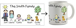 Pen At Hand Stick Figures - Mug (Family)