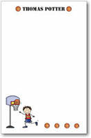 Pen At Hand Stick Figures - Large Full Color Pads (Basketball)
