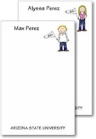 Pen At Hand Stick Figures - Large Full Color Pads (College)