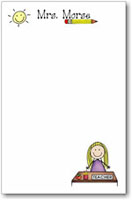 Pen At Hand Stick Figures - Large Full Color Notepads (Teacher)