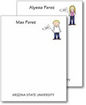 Pen At Hand Stick Figures - Small Full Color Notepads (College)
