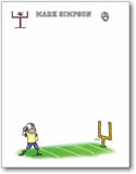 Pen At Hand Stick Figures - Small Full Color Notepads (Football)