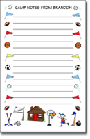 Pen At Hand Stick Figures - Large Full Color Pads (Sport Border - Camp)