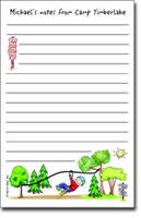 Pen At Hand Stick Figures - Large Full Color Pads (Zipline Boy - Camp)
