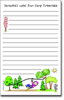 Pen At Hand Stick Figures - Large Full Color Pads (Zipline Girl - Camp)