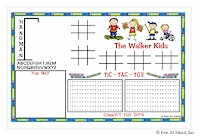 Pen At Hand Stick Figures - Laminated Placemats (Activity Kids)