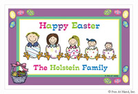 Pen At Hand Stick Figures - Laminated Placemats (Easter)