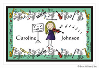 Pen At Hand Stick Figures - Laminated Placemats (Music)