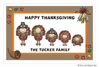 Pen At Hand Stick Figures - Laminated Placemats (Thanksgiving)
