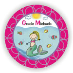 Pen At Hand Stick Figures - Melamine Plates (Water Girl)