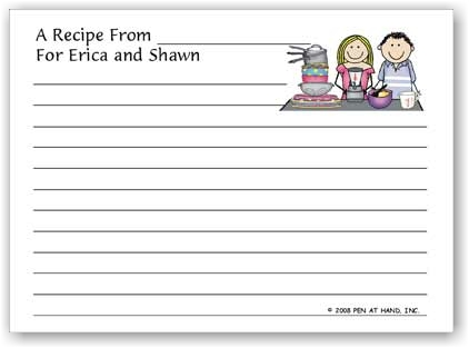 Pen At Hand Stick Figures - Recipe Cards (Recipe 9)
