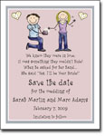 Pen At Hand Stick Figures - Save The Date Cards (Wedding Ring 2)