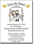 Pen At Hand Stick Figures - Save The Date Cards (Wedding Arch)