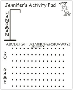 Pen At Hand Stick Figures - Small Activity Pad