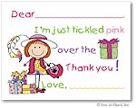 Pen At Hand Stick Figures Stationery - Dressup (Fill-In Thank You Notes)