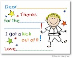 Pen At Hand Stick Figures Stationery - Karate (Fill-In Thank You Notes)