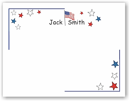 Pen At Hand Stick Figures Stationery - Patriot (Theme)