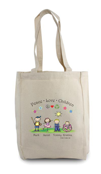Pen At Hand Stick Figures - Tote Bag - Children