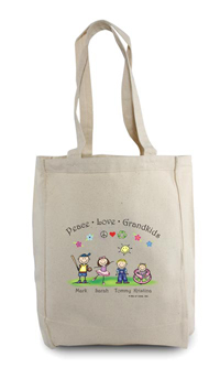 Pen At Hand Stick Figures - Tote Bag - Grandkids