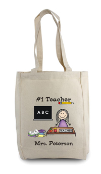 Pen At Hand Stick Figures - Tote Bag - Teacher 2 Lady