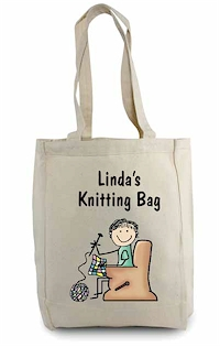 Pen At Hand Stick Figures - Tote Bag - Knitting Tote Bag