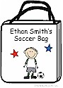 Pen At Hand Stick Figures - Tote Bag - Soccer