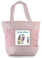 Pen At Hand Stick Figures - Zippered Tote Bag (Office Woman)