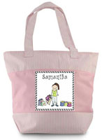 Pen At Hand Stick Figures - Zippered Tote Bag (Shopper)