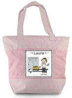 Pen At Hand Stick Figures - Zippered Tote Bag (Workout)