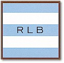 Boatman Geller Gift Stickers - Light Blue Stripe/Brown Border