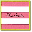 Boatman Geller Gift Stickers - Dark Pink Stripe/Lime Border