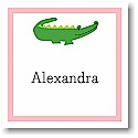 Boatman Geller Gift Stickers - Alligator Pink