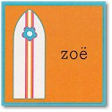 Boatman Geller Gift Stickers - Surfboard Orange