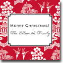Boatman Geller Holiday Gift Stickers - Chinoiserie Red