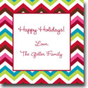 Boatman Geller Holiday Gift Stickers - Chevron Holiday