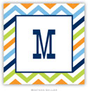 Boatman Geller Address Labels - Chevron Blue Orange & Lime