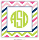 Boatman Geller Address Labels - Chevron Pink Navy & Lime