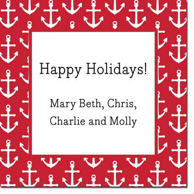Boatman Geller Gift Stickers - Anchors Red