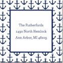 Boatman Geller Gift Stickers - Anchors Navy