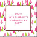Boatman Geller Gift Stickers - Holiday Trees Pink