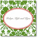 Boatman Geller Gift Stickers - Green Damask